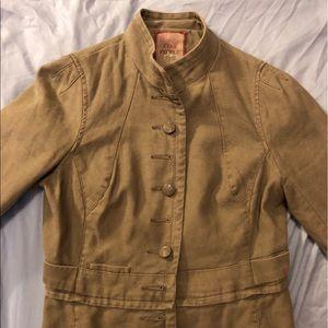Free People Cropped Jacket - Tan